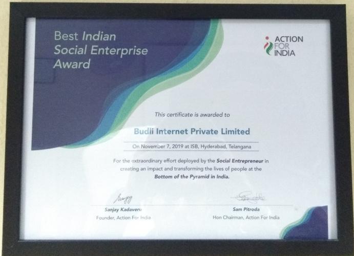 AFI Certificate To Budli