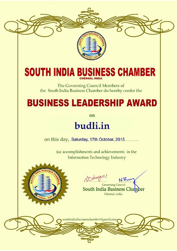 Business Leadership Award To Budli