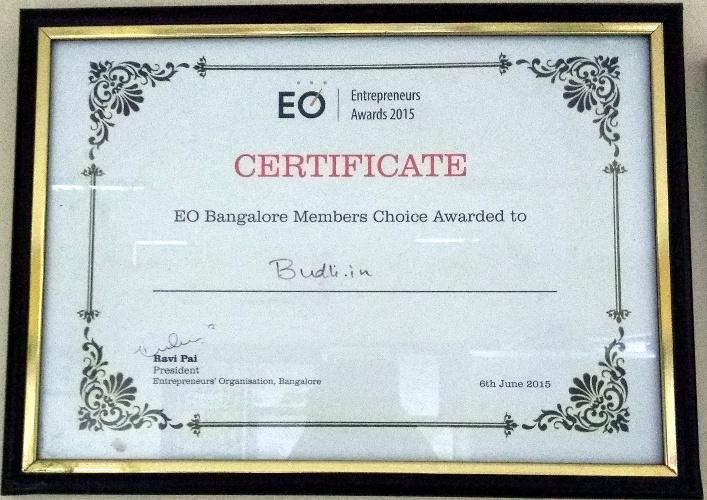 EO Certificate To Budli